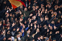 February 11, 2018 - Rome, Italy - Roma supporters during the serie A match between AS Roma and Benevento Calcio at Stadio Olimpico on February 11, 2018 in Rome, Italy. (Credit Image: © Matteo Ciambelli/NurPhoto via ZUMA Press)