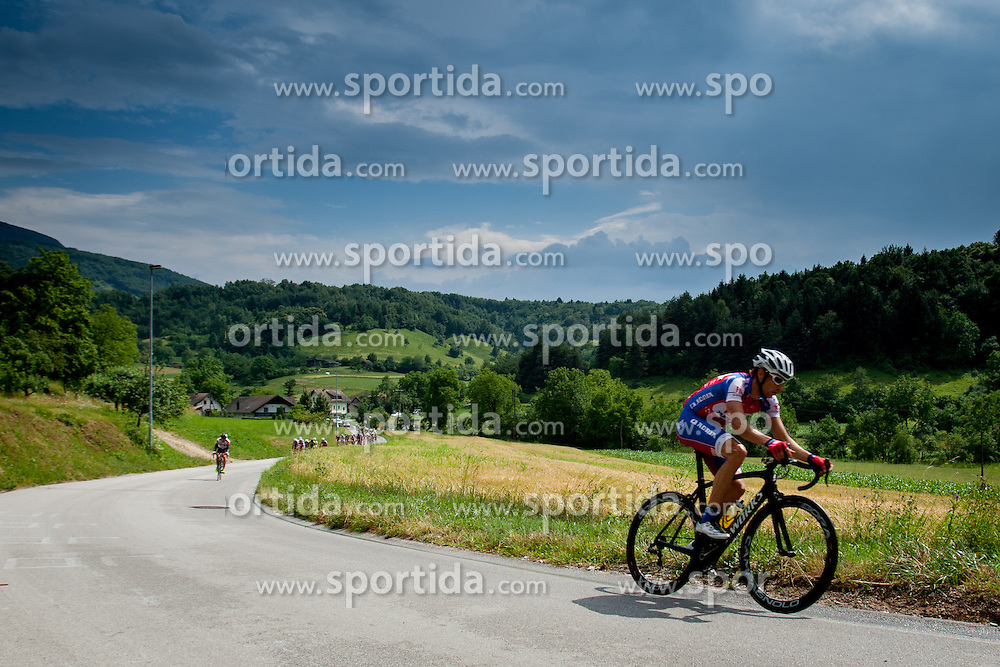 Matej Mugerli of Adria Mobil during Slovenian National Championship in Road Cycling, on June 23, 2013, in Gabrje, Slovenia. (Photo by Urban Urbanc / Sportida.com)