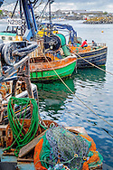 fishing boats and nets at Ardglass Harbour
