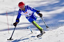 BENDOTTI Davide, LW2, ITA, Slalom at the WPAS_2019 Alpine Skiing World Cup Finals, Morzine, France