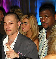 **EXCLUSIVE**.Kevin Federline with new squeeze Angela, with bodyguard in tow.Shaquille O'Neal Kick Off Event.Casa Casaurina aka (Versace Mansion).Miami Beach, FL, USA.Thursday, February 01, 2007.Photo By Celebrityvibe.com.To license this image please call (212) 410 5354; or.Email: celebrityvibe@gmail.com ;.Website: www.celebrityvibe.com