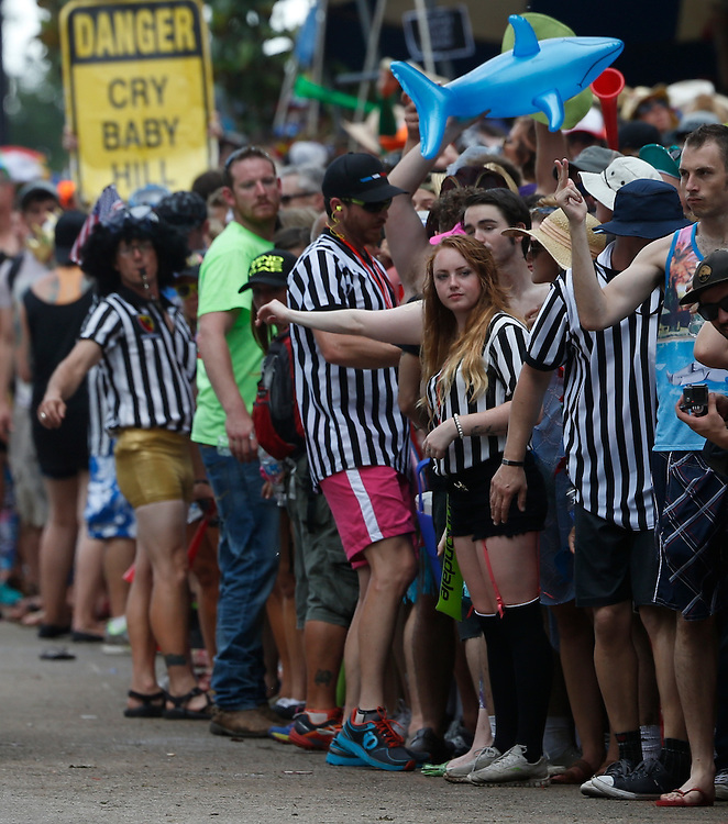 Participants and spectators on Cry Baby Hill during the 2015 Tulsa Tough Bike race.<br /> <br /> Sunday