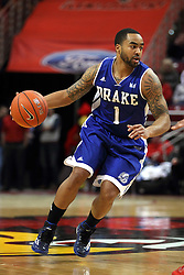 07 January 2015:   Karl Madison during an NCAA MVC (Missouri Valley Conference) men's basketball game between the Drake Bulldogs and the Illinois State Redbirds at Redbird Arena in Normal Illinois.  Illinois State comes out victorious 81-45.