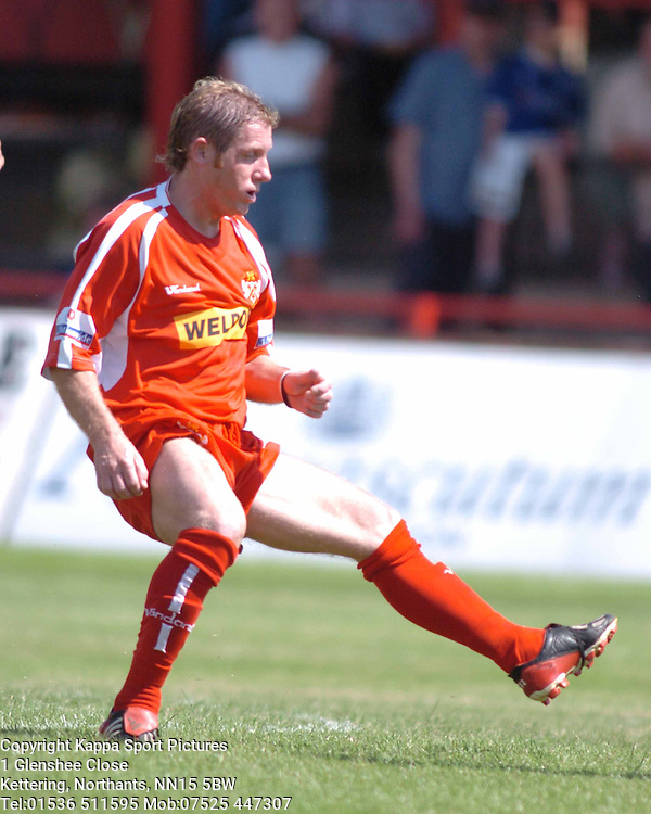 JAMIE PATTERSON KETTERING TOWN 2005Kettering Town v Leicester City Pre Season Friendly 10th July 2005 :Photo Mike Capps