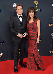 John Travolta & Kelly Preston bei der Verleihung der 68. Primetime Emmy Awards in Los Angeles / 180916<br /> <br /> *** 68th Primetime Emmy Awards in Los Angeles, California on September 18th, 2016***