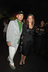 MARC QUINN and GEORGIA BYNG at the annual Serpentine Gallery Summer Party in Kensington Gardens, London on 9th September 2008.