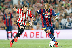 30.05.2015, Camp Nou, Barcelona, ESP, Copa del Rey, Athletic Club Bilbao vs FC Barcelona, Finale, im Bild Athletic de Bilbao's Ibai Gomez (l) and FC Barcelona's Daniel Alves // during the final match of spanish king's cup between Athletic Club Bilbao and Barcelona FC at Camp Nou in Barcelona, Spain on 2015/05/30. EXPA Pictures &copy; 2015, PhotoCredit: EXPA/ Alterphotos/ Acero<br /> <br /> *****ATTENTION - OUT of ESP, SUI*****