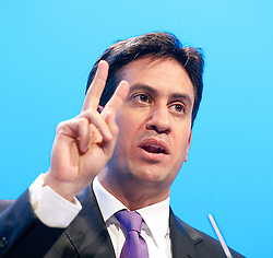 Labour Party Annual Conference 2013. <br /> Leader of the Labour Party Ed Miliband MP during a Q&A at the annual Labour conference, Brighton, United Kingdom. Wednesday, 25th September 2013. Picture by Elliot Franks / i-Images