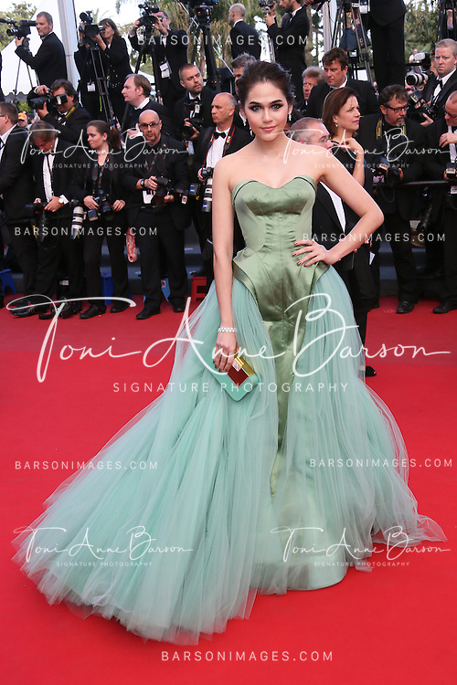 CANNES, FRANCE - MAY 21:  Araya A. Hargate attends 'Behind The Candelabra' Premiere during The 66th Annual Cannes Film Festival on May 21, 2013 in Cannes, France.  (Photo by Tony Barson/FilmMagic)