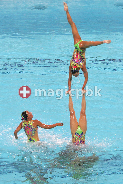 Team Russia performs during the Synchronized Swimming free routine final of the Athens 2004 Olympic Games Friday 27 August 2004.   (Photo by Patrick B. Kraemer / MAGICPBK)