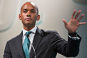 Chuka Umunna MP, shadow business secretary speaking at TUC Congress, Liverpool. 2014