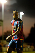 Adelene Geurdioura looks back into the area during the Pre-Season Friendly match between Bromley and Crystal Palace at the Courage Stadium, Bromley, United Kingdom on 30 July 2015. Photo by Michael Hulf.