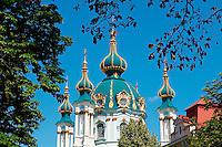 kraine, Kiev, église Saint-André de Kiev // Ukraine, Kiev, St Andrew's Church.