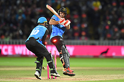 Sussex Sharks' Laurie Evans is bowled out by Worcestershire Rapids' Ed Barnard during the Vitality T20 Blast Final on Finals Day at Edgbaston, Birmingham.