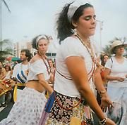Female carnival dancers in Brazil