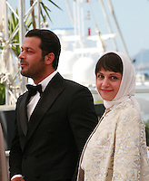 Actor Pejman Bazeghi and director Ida Panahandeh at the Nahid film photo call at the 68th Cannes Film Festival Sunday May 17th 2015, Cannes, France.