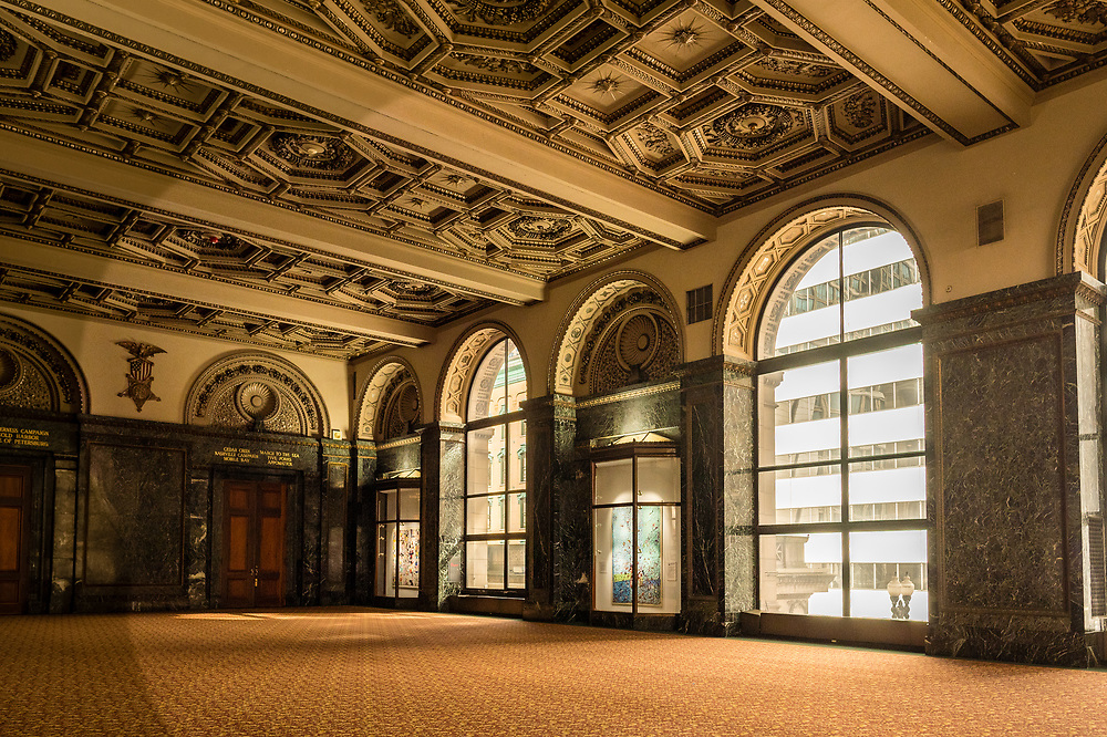 CHICAGO - MARCH 11, 2016. Interior of the Chicago Cultural Center on March 11, 2016 in downtown Chicago, Illinois.