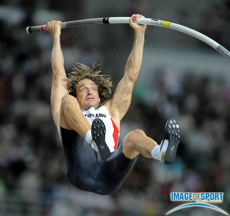 Sep 1, 2007; Osaka, JAPAN; Tim Lobinger (GER) was eighth in the pole vault at 19-0 3/4 (5.81m) in the 11th IAAF World Championships at Nagai Stadium.