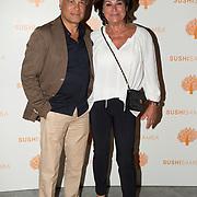 NLD/Amsterdam/20171016 - Opening Restaurant Sushi Samba, Christine Kroonenberg en .......