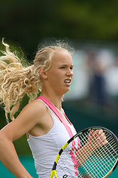 Liverpool, England - Friday, June 15, 2007: Caroline Wozniacki (DEN) in action on day four of the Liverpool International Tennis Tournament at Calderstones Park. For more information visit www.liverpooltennis.co.uk. (Pic by David Rawcliffe/Propaganda)
