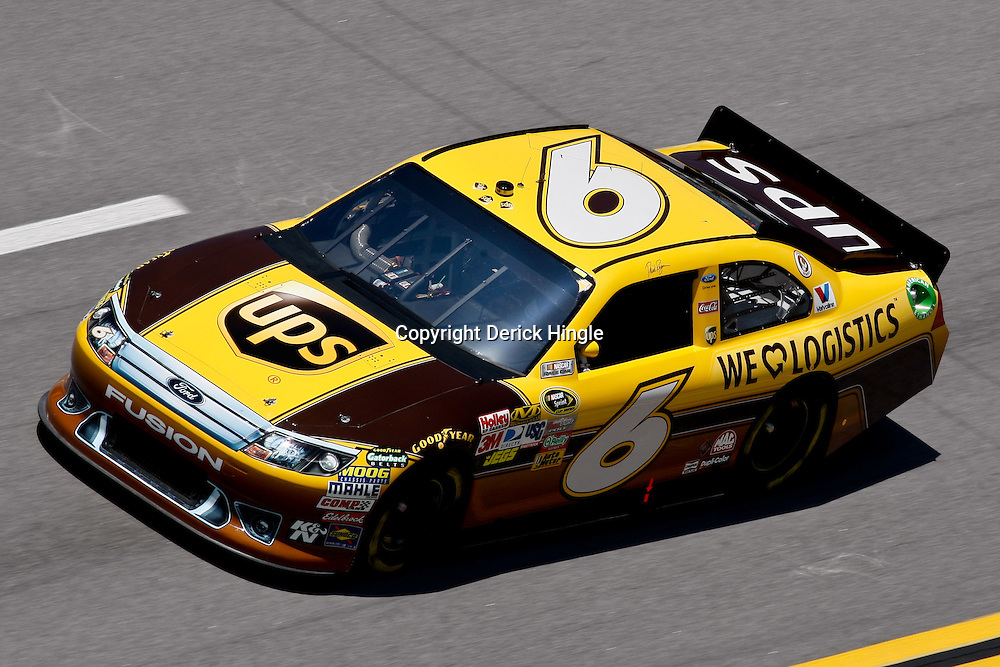 April 17, 2011; Talladega, AL, USA; NASCAR Sprint Cup Series driver David Ragan (6) during the Aarons 499 at Talladega Superspeedway.   Mandatory Credit: Derick E. Hingle