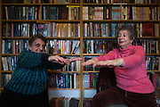Residents participate in an exercise class at the Ellison Park Apartments in Rochester, New York on Tuesday, January 3, 2017. The complex is a Naturally Occurring Retirement Community, or NORC, home to many Russian and Ukrainian immigrants.