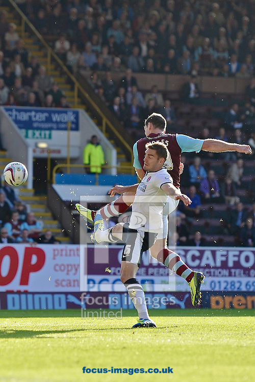 Picture by Ian Wadkins/Focus Images Ltd +44 7877 568959<br /> 28/09/2013<br /> Sam Vokes of Burnley scores to make it 3-0 during the Sky Bet Championship match at Turf Moor, Burnley.