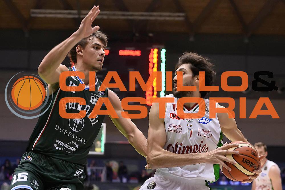 Davide Pascolo <br /> EA7 Emporio Armani Olimpia Milano - Cantine Due Palme New Basket Brindisi<br /> PosteMobile Final Eight F8 2017<br /> LegaBasket 2016/2017<br /> Rimini 16/02/2017<br /> Foto Ciamillo-Castoria