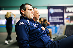 Head Coach Andreas Kapoulas of Bristol Flyers - Rogan/JMP - 19/04/2019 - BASKETBALL - University of Worcester Arena - Worcester, England. - Worcester Wolves v Bristol Flyers - British Basketball League.
