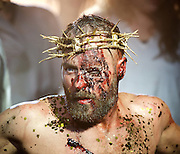 Jesus Christ Superstar <br /> by Tim Rice &amp; Andrew Lloyd Webber <br /> at The Regent's Park Open Air Theatre, London, Great Britain <br /> press photocall<br /> 19th July 2016 <br /> <br /> Declan Bennett as Jesus <br /> <br /> <br /> <br /> <br /> Photograph by Elliott Franks <br /> Image licensed to Elliott Franks Photography Services