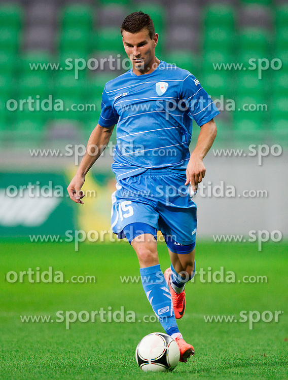 Dino Martinovic #15 of Gorica during football match between NK Olimpija Ljubljana and NK Gorica in 3rd Round of Prva liga NZS 2012/13, on July 29, 2012 in SRC Stozice, Ljubljana, Slovenia. Gorica defeated Olimpija 3-1. (Photo by Vid Ponikvar / Sportida.com)