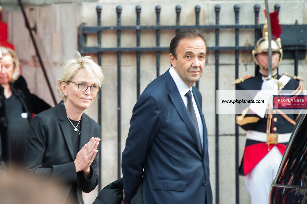 Claude Chirac_Frederic Salat-Baroux Obsèques de Jacques Chirac Lundi 30 Septembre 2019 église Saint Sulpice Paris