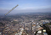 aerial photograph of Huddersfield Yorkshire  England UK