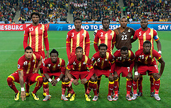 Players of Ghana at group photo during the 2010 FIFA World Cup South Africa Quarter Finals football match between Uruguay and Ghana on July 02, 2010 at Soccer City Stadium in Sowetto, suburb of Johannesburg. Uruguay defeated Ghana after penalty shots. (Photo by Vid Ponikvar / Sportida)