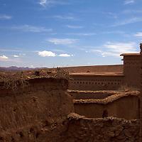 Africa, Morocco, Ourazazate. Ait Ben Haddou walls.