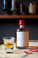 The Apothecary Tasting Room adjacent to the distillery is open to the public and features the Apothecary Line, a specialty collection of small-batch, limited edition spirits packaged in individually numbered 375ml bottles.  The line is exclusively available in Portland, Oregon. Pictured is the rum made with Hawaiian Cane Sugar.