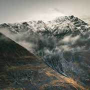 The western ridge of Liathach above the village of Torridon Torridon