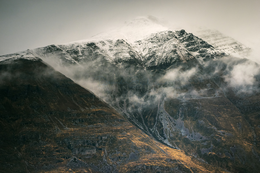 The western ridge of Liathach above the village of Torridon Torridon