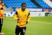 Southend United midfielder Dru Yearwood (16) warming up before the EFL Sky Bet League 1 match between Peterborough United and Southend United at London Road, Peterborough, England on 3 February 2018. Picture by Nigel Cole.