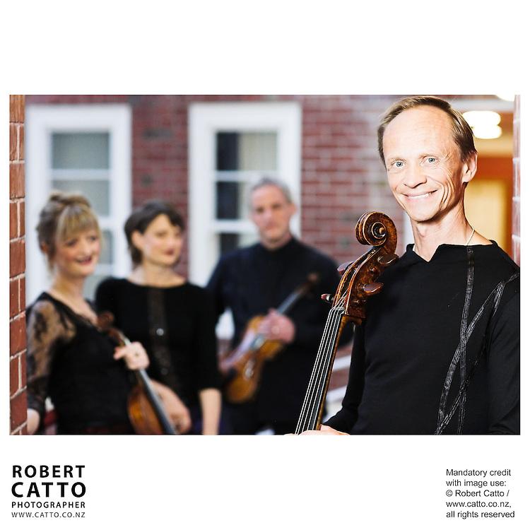 Gillian Ansell;Helene Pohl;Douglas Beilman;Rolf Gjelsten (New Zealand String Quartet)  at Victoria University, Wellington, New Zealand.