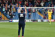 Shrewsbury Town Manager, Micky Mellon applauds the away fans during the EFL Sky Bet League 1 match between Bury and Shrewsbury Town at the JD Stadium, Bury, England on 10 September 2016. Photo by Mark Pollitt.