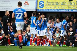 Goal, Portsmouth celebrate - Mandatory by-line: Jason Brown/JMP - 06/05/2017 - FOOTBALL - Fratton Park - Portsmouth, England - Portsmouth v Cheltenham Town - Sky Bet League Two