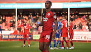 Lewis Young in action during the Sky Bet League 2 match between Crawley Town and Notts County at the Checkatrade.com Stadium, Crawley, England on 16 January 2016. Photo by Michael Hulf.