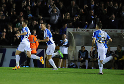Bristol Rovers celebrate - Mandatory byline: Neil Brookman/JMP - 07966 386802 - 06/10/2015 - FOOTBALL - Memorial Stadium - Bristol, England - Bristol Rovers v Wycombe Wanderers - JPT Trophy