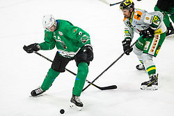 Luka Zorko of SZ Olimpija during Ice Hockey match between HK SZ Olimpija and EHC Alge Elastic Lustenau in Semifinal of Alps Hockey League 2018/19, on April 1, 2019, in Arena Tivoli, Ljubljana, Slovenia. Photo by Vid Ponikvar / Sportida