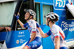 Roxane Fournier (FRA) laughs with her teammates at Lotto Thuringen Ladies Tour 2018 - Stage 5, a 102.9 km road race starting and finishing in , Germany on June 1, 2018. Photo by Sean Robinson/velofocus.com
