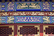 Detail of Hall of Prayer for Good Harvest, Qinian Dian, at the Ming Dynasty Temple of Heaven, Beijing, China