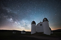 The core of the Milky Way shines over the DH Day farm at Sleeping Bear Dunes.