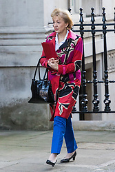 London, January 16 2018. Leader of the House of Commons Andrea Leadsom attends the UK cabinet meeting at Downing Street. © Paul Davey