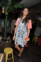 JOANNA BERRYMAN (interior designer who has designed the Rum Shack , previously married to Guy Berryman of Coldplay) at a party to celebrate the opening of the Rum Shack, Floridita, 100 Wardour Street, London on 1st February 2013.